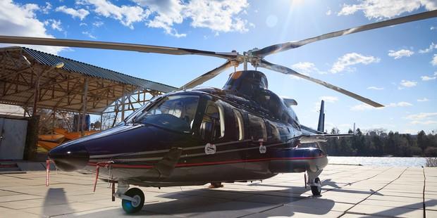 Bell430 – перешив салона вертолета, полировка и нанокерамика для кузова
