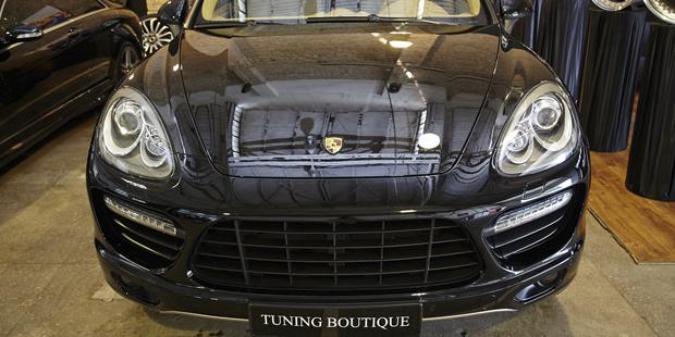 Установка стайлинга TURBO на Porsche Cayenne S + диски R21
