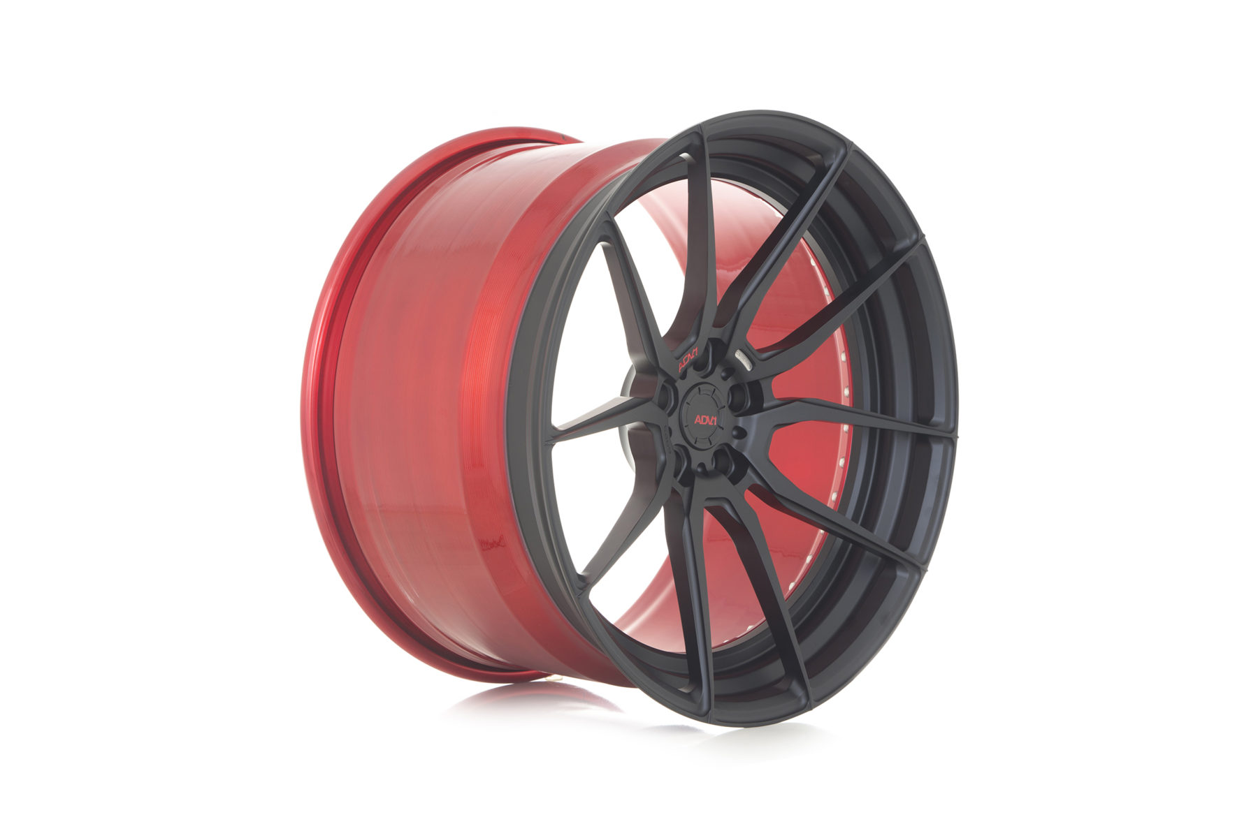 Click to enlarge image adv1-matte-black-red-custom-forged-aftermarket-exotic-car-luxury-rims-wheels-b.jpg